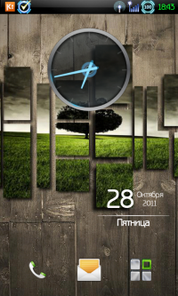 Ice Cream Sandwich Clock – виджет часов Android 4.0